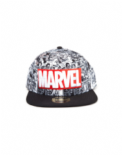 Marvel Classic Red And White Logo Snap back